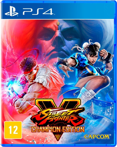 Street Fighter V Champion Edition (física Com Código) - Ps4