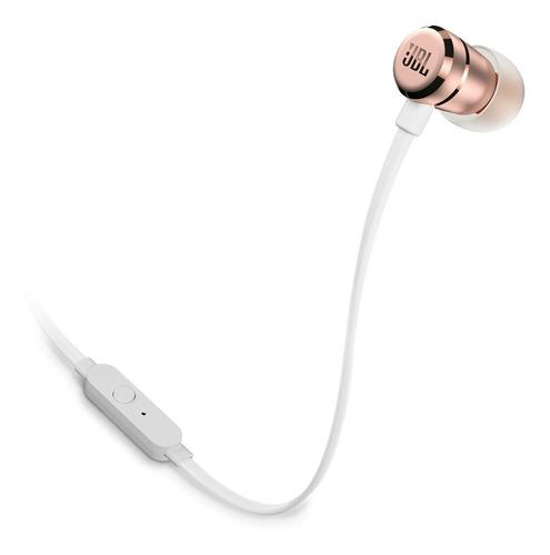 Fone de Ouvido Intra-auricular Com Controle Pure Bass Branco e Rosa Jbl Jblt290gld
