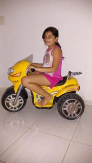 Moto Elétrica Sprint Turbo Amarela 12v. Biemme
