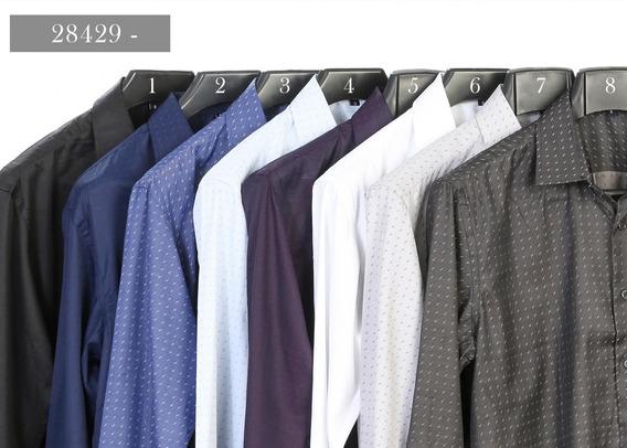 Camisa Slim Estampada Cód 28429