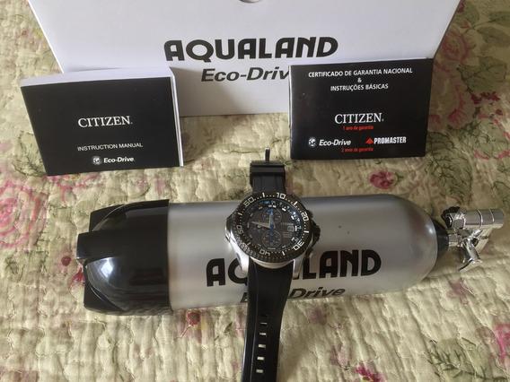Relógio Citizen Aqualand Eco-drive Tz30348j Pulseira Preta