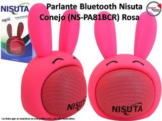 Parlante Portátil Bluetooth Nisuta Conejo (ns-pa81bc) Rosa