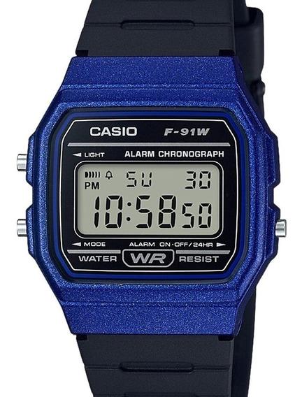 Relógio Casio Unissex Vintage Digital F-91wm-2adf-br