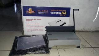 Espiraladora 15 Hojas + Guillotina A3 + Micas Y Espirales