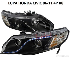 Focos Lupas Honda Civic 06 - 11 4p R8 , Jdm Oferta