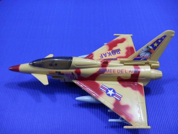 Avion Super Fighter Con Luz Y Sonido A Pila