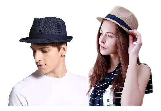 Sombrero Fedora Playa Unisex Gorro Gardel Promo Sol Protege