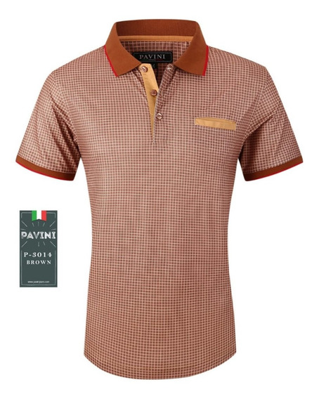 Playera Caballero Polo Marca Pavini Original 3014 Cafe