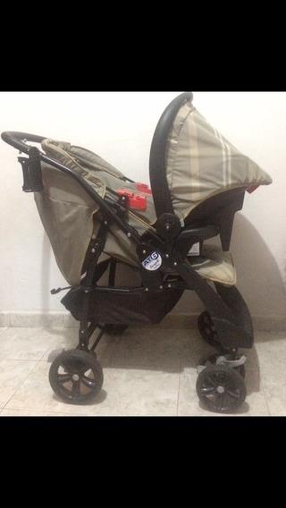 Carrinho De Bebê At6 Reversível E Bebê Conforto Burigotto