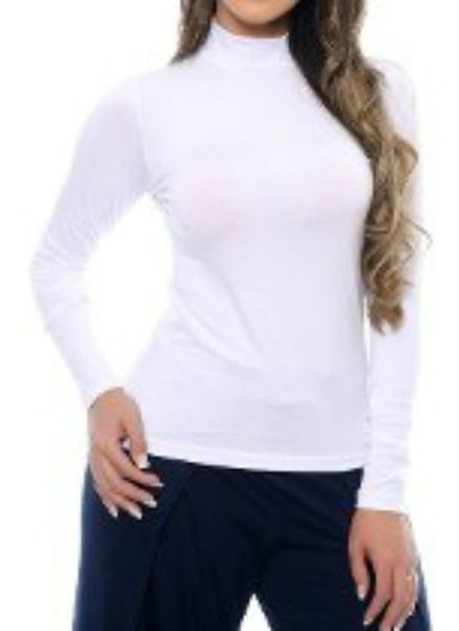 Blusa Térmica Feminina Camisa Gola Alta Slim Prot. Uv Barata
