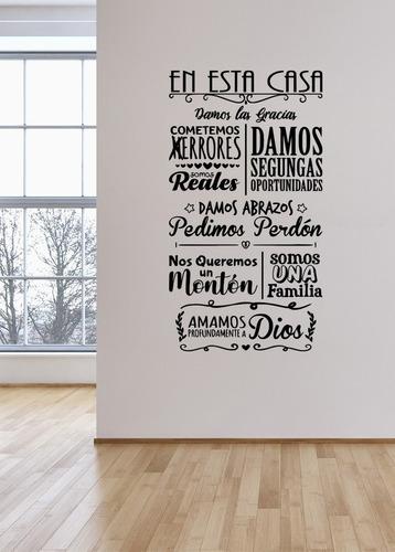 Viniles Decorativos Para Paredes Frases Letras En Esta Casa