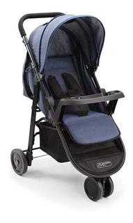 Carrinho Bebê 3 Rodas Agile Jeans Bb527 - Multikids Baby