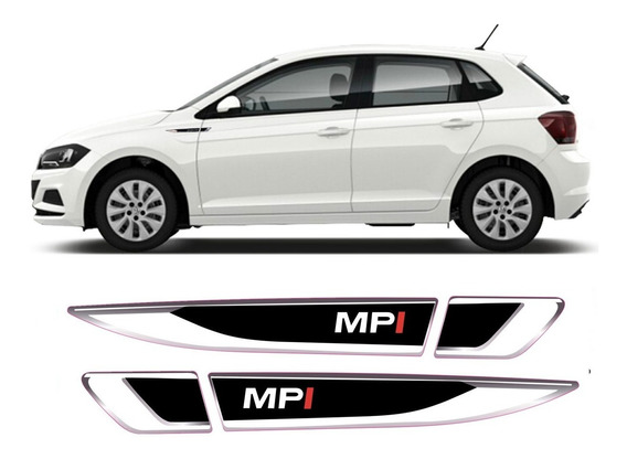 Par Emblema Resinado Lateral Volkswagen Vw Polo Virtus Mpi
