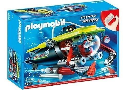 Submarino Deep Sea Con Motor Sumergible Playmobil + Regalo