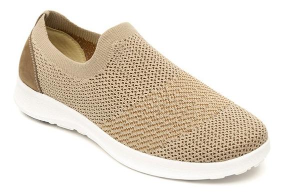 Zapato Dama Mujer Flexi Flat Tejido Arena Textil Casual