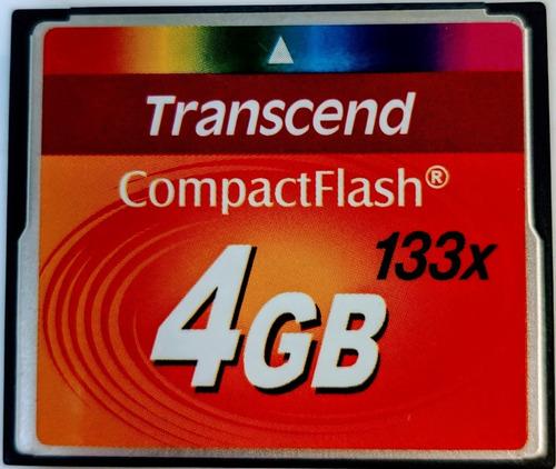 Imagem 1 de 1 de Cartão Memória Compact Flash 133x Transcend 4gb - Ts4gcf133
