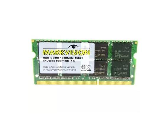 Memoria Notebook Ddr3 8gb 1333 Markvision C/ Nf