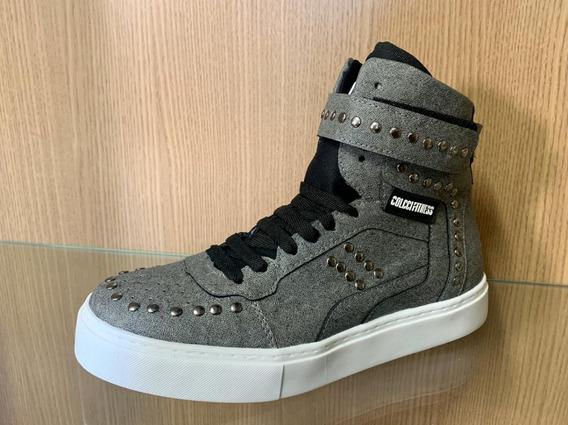 Kit 2 Tênis Colcci Botinha Hardcore Sneaker Couro Fitness