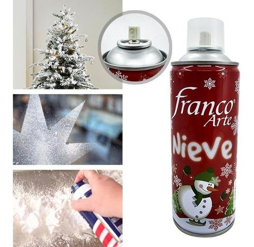 Espuma Nieve Artificial Spray Decoración Árbol Navidad 198