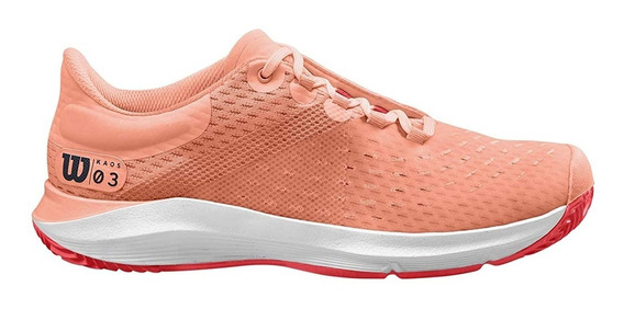 Tenis Wilson Kaos 3.0 Clay W Feminino Rosa E Branco