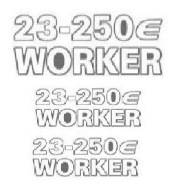 Emblema Adesivo 23250 Worker Caminhao Vw Kit