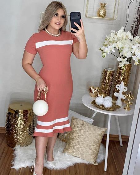 Vestido Midi Médio Feminino Variados Cores E Modelo #cr
