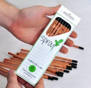 Lápiz Plantable Lapiz Ecologico Caja Con 8 Lápices