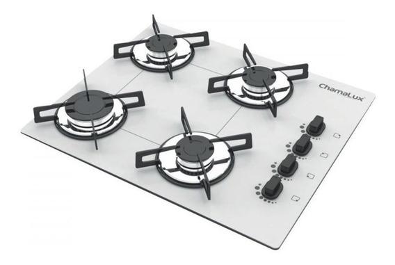 Fogão cooktop a gás Chamalux Luana 4 Bocas branco