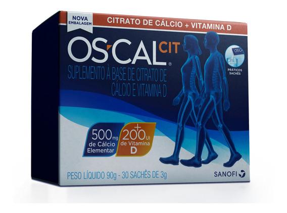 Os-cal Cit Cálcio Vitamina D Suplemento Alimentar 30 Sachets