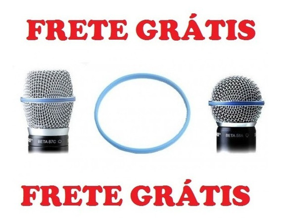 Anel Borracha Azul Globo Grelha Microfone Shure Beta 87 58