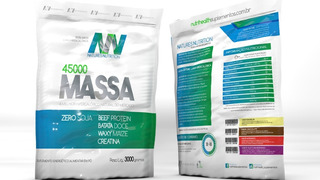 Hipercalórico Massa 45000 3kg Natures Nutrition
