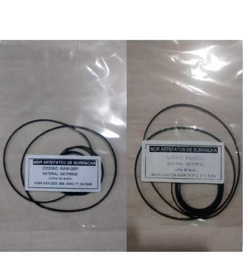 02 Kit Correias Aiwa 2200, 999 + F9, 959- Frete Incluso