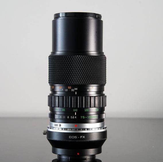 Lente Olympus 75-150 F4 +adaptador Compósito Fujix- Eos