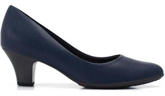 Sapato Piccadilly Escarpins Sato Médio Azul 703001