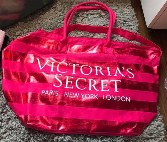 Bolsa Weekender Duffle Listrada Rosa Victoria