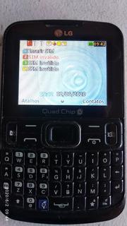 Celular LG C299 P/4 Chips + Cartão De Memória. Func. Ótimo
