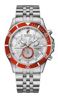 Reloj Swiss Military River Acero Cronografo 100m C/envio