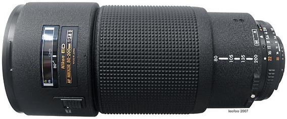 Lente Nikon Nikkor 80 200 2.8 Af Ed Telefoto