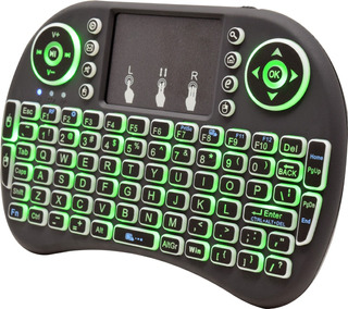 Mini Teclado Inalambrico Iluminado Tv Box Smart Ncr01 Necnon