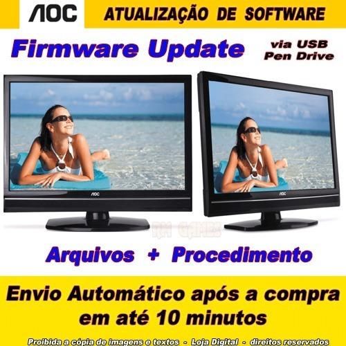 Atualização De Software Firmware Tv Aoc Lc32w053 Auo Lg Usb