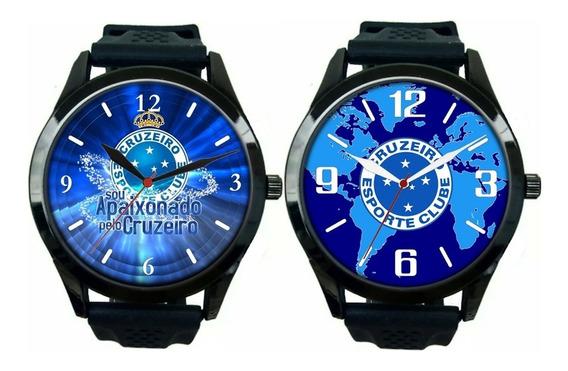 Kit 2 Relógios Pulso Esportivo Masculino Cruzeiro Promoção