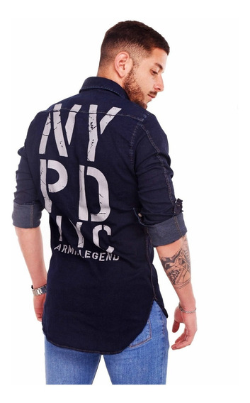 Customs Ba Plus Camisa Hombre De Jean Importada Camisas Full