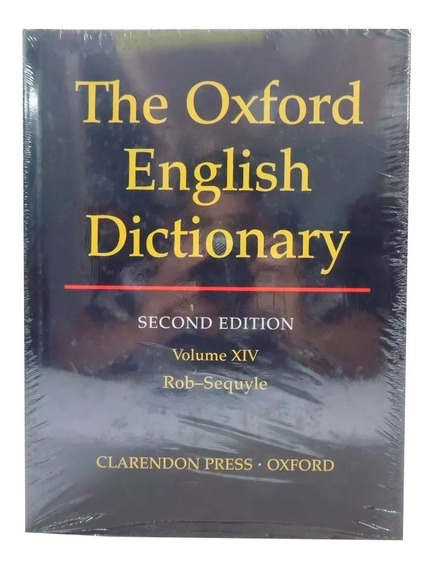 Livro The Oxford English Dictionary 2nd Vol. 14 Em Inglês
