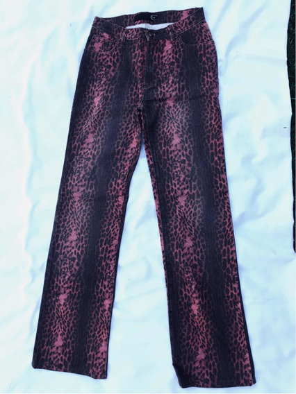 Jean Italiano Animal Print Just Cavalli Talle 40 Aprox Ver