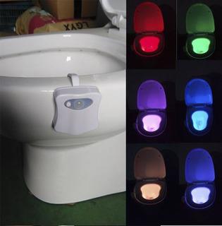 Lampara Led De Colores Sanitario Baño Sensor De Movimiento
