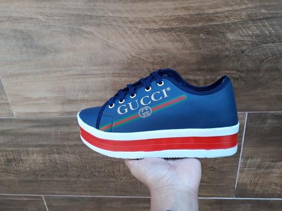 Tenis Plataforma Feminino Gucci Envio Imediato (34 Ao 39)