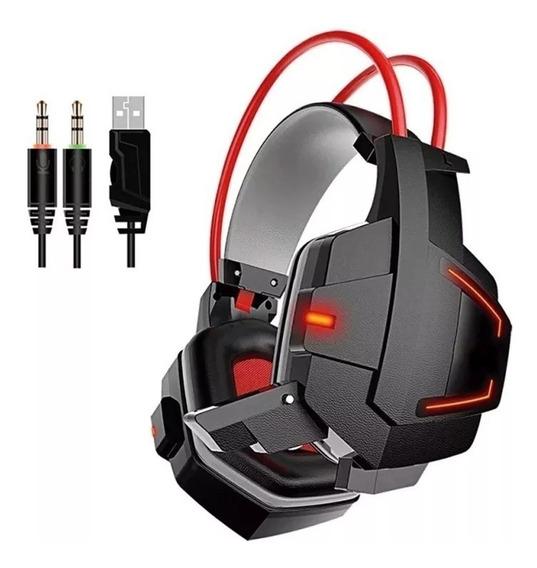 Fone Ouvido Gamer C/ Led Microfone P2 Usb Gh-x20 Barato
