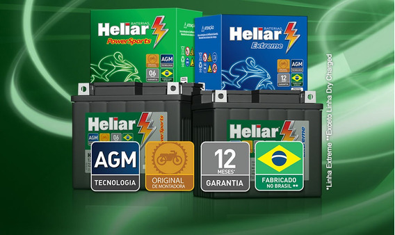 Bateria Moto Heliar Htz7 Twister/ Tornado / Cb300 / Fazer250