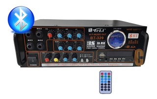 Amplificador Bluetooth Spe Mic Usb Sd Rca Fm Karaoke 220v
