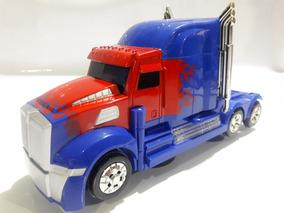 Caminhão Transformers Vira Robo Com Som E Luz